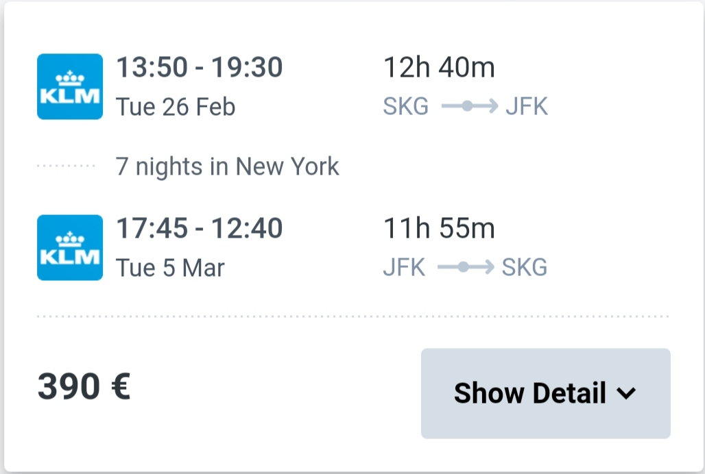 Thessaloniki New York air tickets