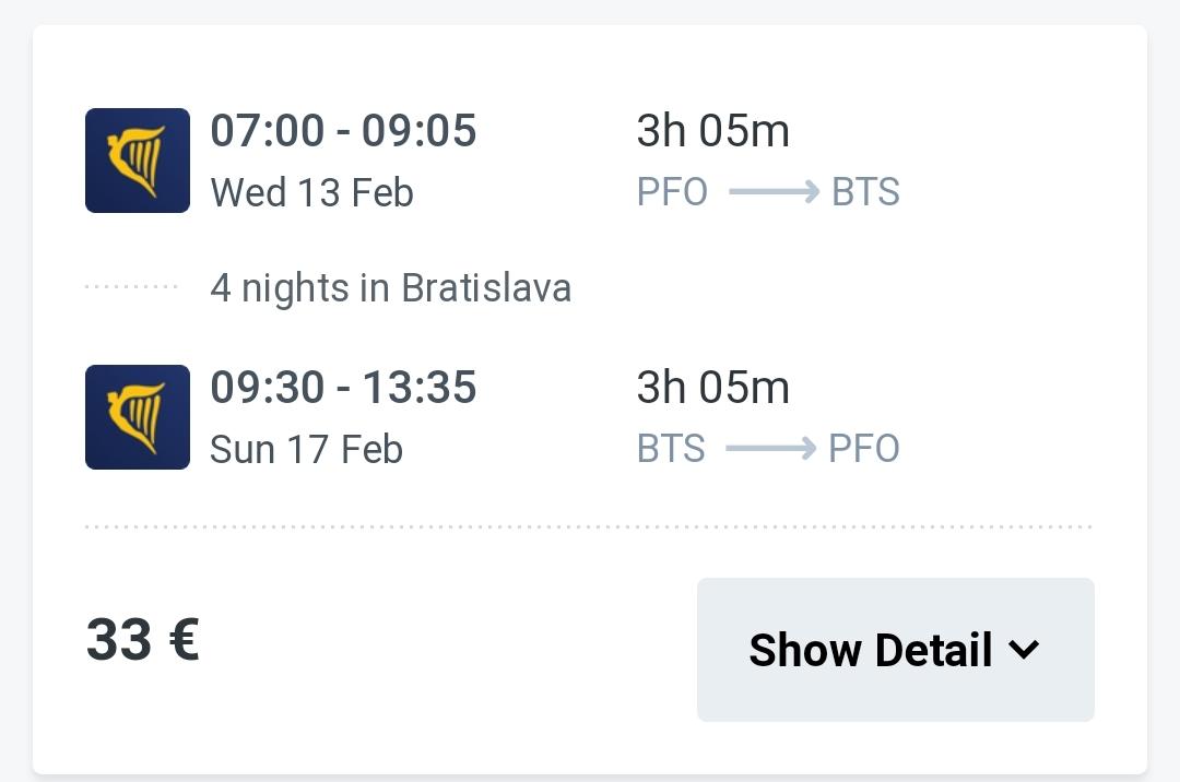 Πάφο Σλοβακία αεροπορικά εισιτήρια