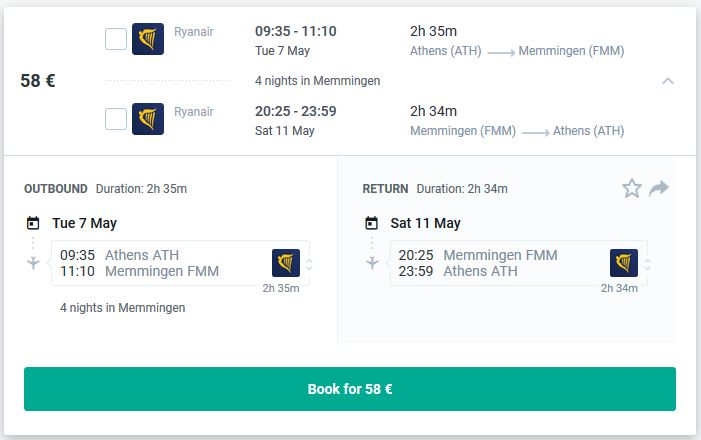 athens to germany flights