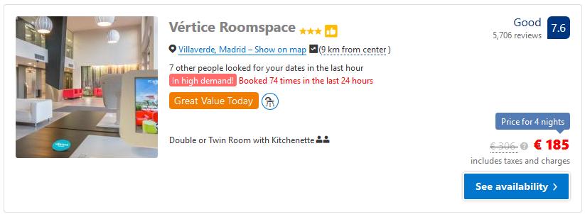 Mαδρίτη ξενοδοχείο roomspace